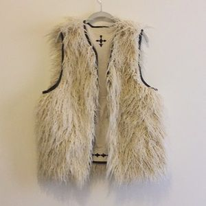 Urban Outfitters Leather Bound Reversible Vest